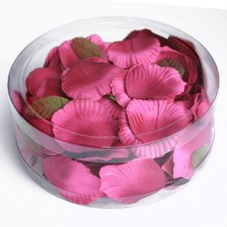 Fuschia Satin Rose Petals